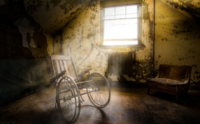Картинка свет, окно, коляска