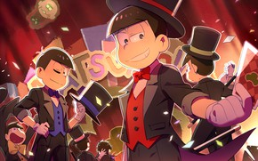 Картинка аниме, арт, парни, Osomatsu-san, Осоматсу-сан