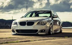 Картинка Авто, Белый, BMW, Машина, Белая, Фары, 5 Series, BMW 5 Series, Передок, BMW 5, Mike …