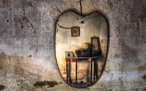 Картинка комната, стена, зеркало