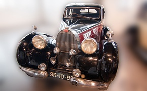Картинка старина, ретро, Bugatti, автомобиль