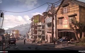 Обои город, Uncharted 4, люди, дома, City Chase Modeling Part1, улица