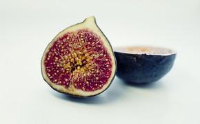 Картинка макро, фрукты, инжир