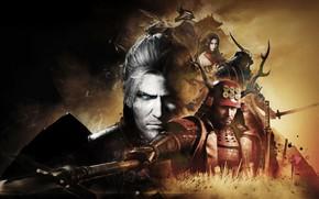 Картинка игра, sword, game, horns, Playstation, man, samurai, ninja, assassin, hero, asian, armour, warrior, shinobi, japanese, …