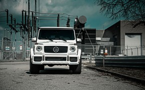 Картинка Mercedes, Front, AMG, White, G63, Face, W463