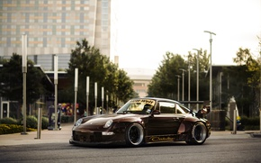 Картинка 911, Porsche, Карера, Порше, Carrera, 1993, 993, RWB, Rauh, Welt, Begriff
