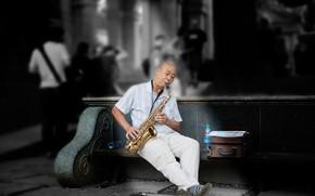 Картинка музыка, саксофонист, street musician