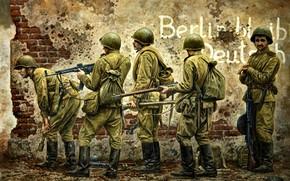 Обои солдаты, Великая Отечественная война, Винтовка Мосина, Вторая Мировая война, Красная Армия, Советские, ДП-27, StG-44