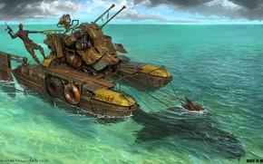 Картинка оружие, животное, катамаран, Warlord, March of War, Sealrider