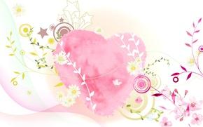 Обои коллаж, сердце, вектор, открытка, День Святого Валентина