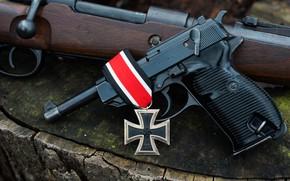 Картинка пистолет, винтовка, 1944, К 98, железный крест