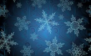 Обои узор, фон, текстура, снежинки