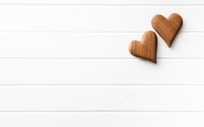 Картинка сердечки, love, wood, romantic, hearts, wooden, valentine's day