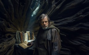 Обои book, sci-fi, Star Wars VIII, Star Wars The Last Jedi, Luke Skywalker, Mark Hamill, science ...