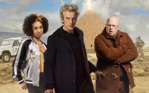 Картинка пирамида, актеры, Doctor Who, Доктор Кто, Peter Capaldi, Двенадцатый Доктор, Twelfth Doctor, Matt Lucas, Pearl …