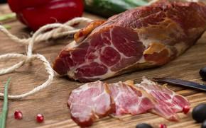 Картинка мясо, маслины, специи