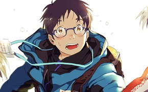 Картинка аниме, арт, парень, Yuri on Ice, Юрий на льду, Юри Катсуки