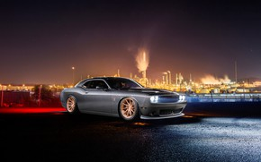 Обои Dodge, Challenger, Car, Front, Avant Garde Wheels