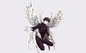 Картинка ангел, аниме, арт, парень, Mob Psycho 100, Кагеяма Шигео