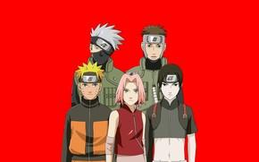 Картинка Naruto, anime, ninja, asian, manga, shinobi, japanese, Hatake Kakashi, Haruno Sakura, Naruto Shippuden, Uzumaki Naruto, …