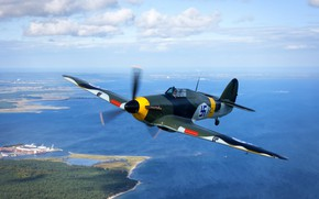 Картинка Hawker Hurricane, финский, одноместный истребитель