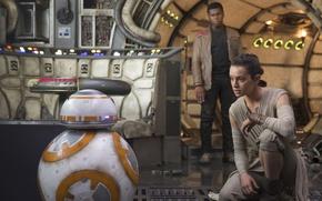 Обои cinema, film, John Boyega, BB-8, Star Wars, Finn, Daisy Ridley Rey, movie, Star Wars: Episode ...