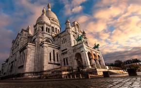 Обои Sacré Coeur, Montmartre, Paris, Ile-de-France