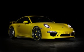 Картинка 911, Porsche, Yellow, Tuning, Techart