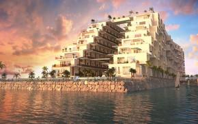 Картинка пальмы, сооружение, архитектура, отдыхающие, The Cruise