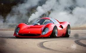 Картинка Ferrari, Red, Car, Old, Tuning, Future, 330, by Khyzyl Saleem