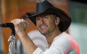 Картинка сцена, шляпа, микрофон, ковбой, песня, country, кантри, Tim McGraw