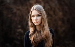 Картинка портрет, губки, прелесть, локоны, Ксюша, фотограф Сергей Сергеев