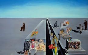 Картинка сюрреализм, картина, Сальвадор Дали, Salvador Dali, В Первый День Весны