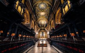 Обои религия, неф, Лондон, Англия, архитектура, Собор Святого Павла