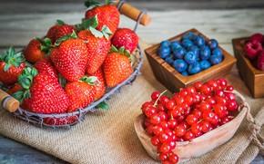 Картинка ягоды, черника, клубника, тарелка, fresh, смородина, cup, berries