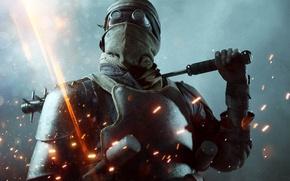 Картинка Огни, Огонь, Военный, Electronic Arts, DLC, DICE, Экипировка, Оружия, Frostbite, Battlefield 1, Батлфилд 1, Battlefield …