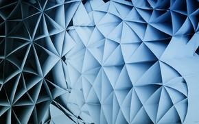 Обои фон, серый, Голубой, Абстракция