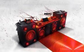 Картинка music, disco, stereo, remix, loudspeakers