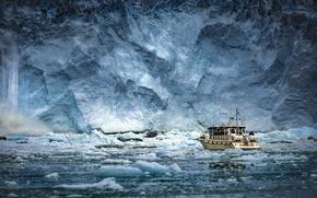 Картинка море, корабль, лёд, Антарктида
