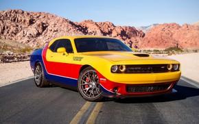 Обои стиль, дорога, Dodge Challenger, дизайн