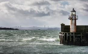 Картинка lighthouse, River Forth, Burntisland