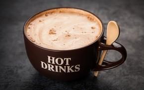 Картинка кофе, напиток, пенка