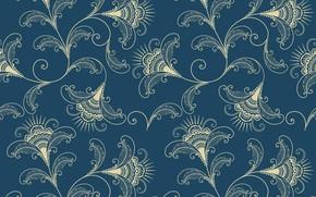 Обои pattern, вектор, vector, background, elegant, текстура, flower, орнамент, узор, seamless
