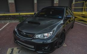 Картинка Subaru, Impreza, WRX, STI, Grey