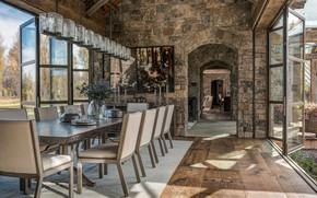 Картинка дизайн, стиль, вилла, интерьер, столовая, Rustic Dining room