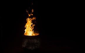 Картинка ночь, фон, огонь