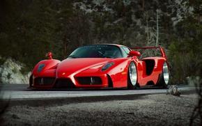 Картинка Ferrari, Red, Enzo, Tuning, Future, Supercar, by Khyzyl Saleem
