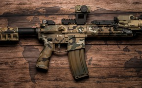 Обои американская, фон, полуавтоматическая винтовка, AR-15