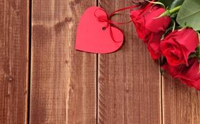 Картинка сердце, букет, red, love, heart, romantic, valentine's day, roses, красные розы