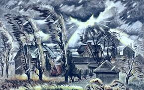 Картинка Charles Ephraim Burchfield, December Storm, 1941-60